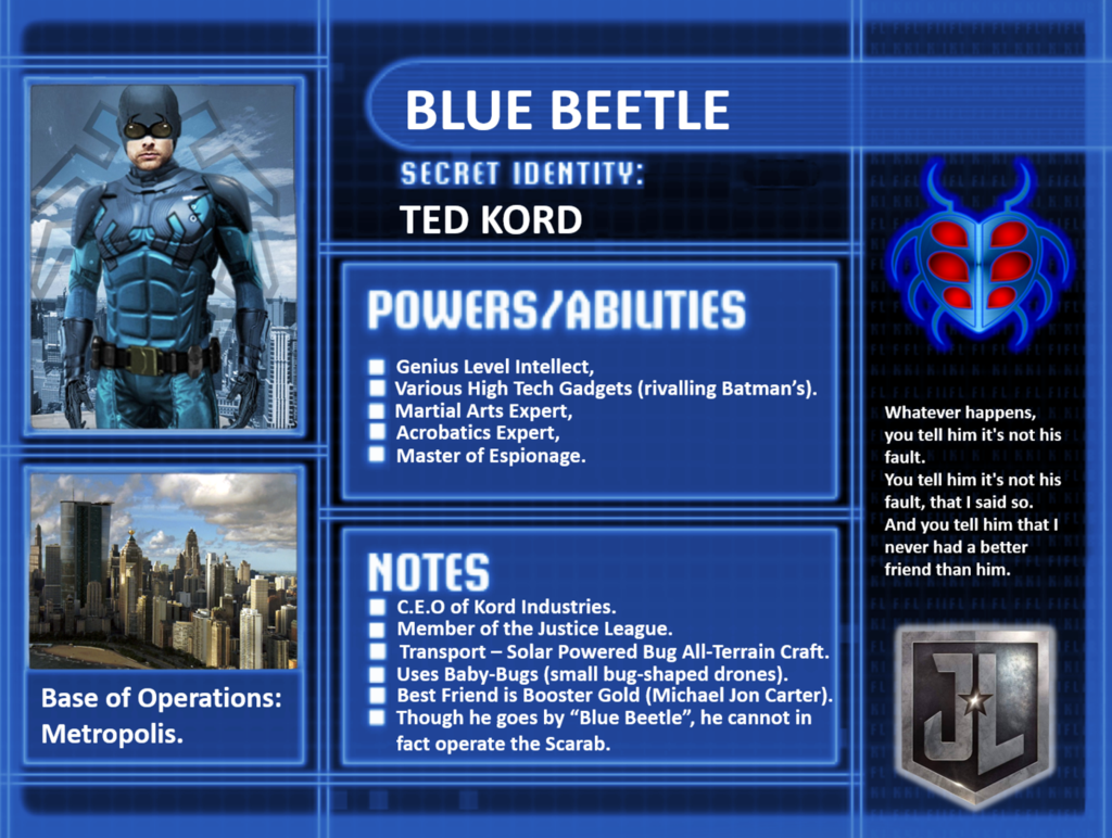 character profile ted kord by camo flauge dc pinterest