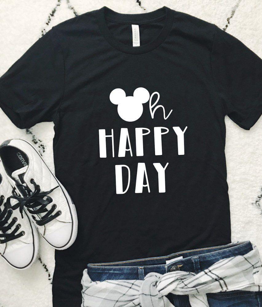 HAPPY DAY UNISEX Shirt Disney Birthday Gift By Happytops On Etsy
