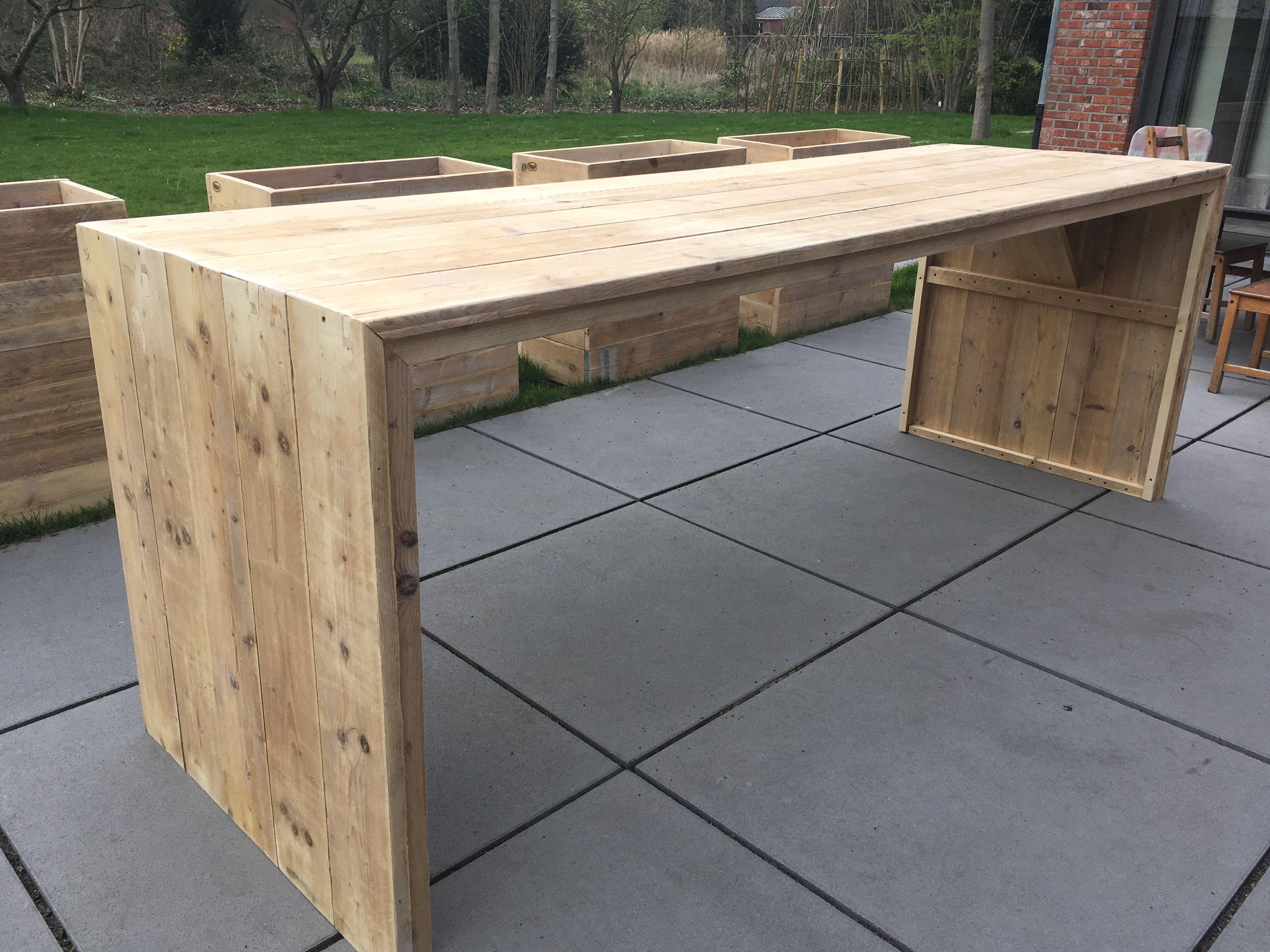 Wonderbaar Hoge steigerhouten tafel. 3m op 1m   Buitendecoraties, Houten MT-31