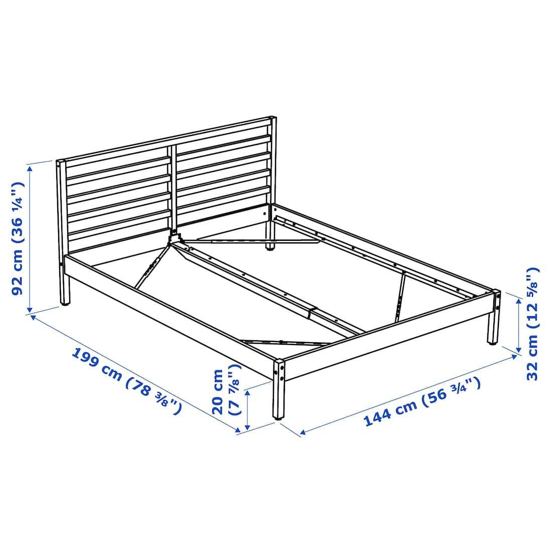 Tarva Bed Frame Pine Full Bed Frame Steel Bed Frame Ikea