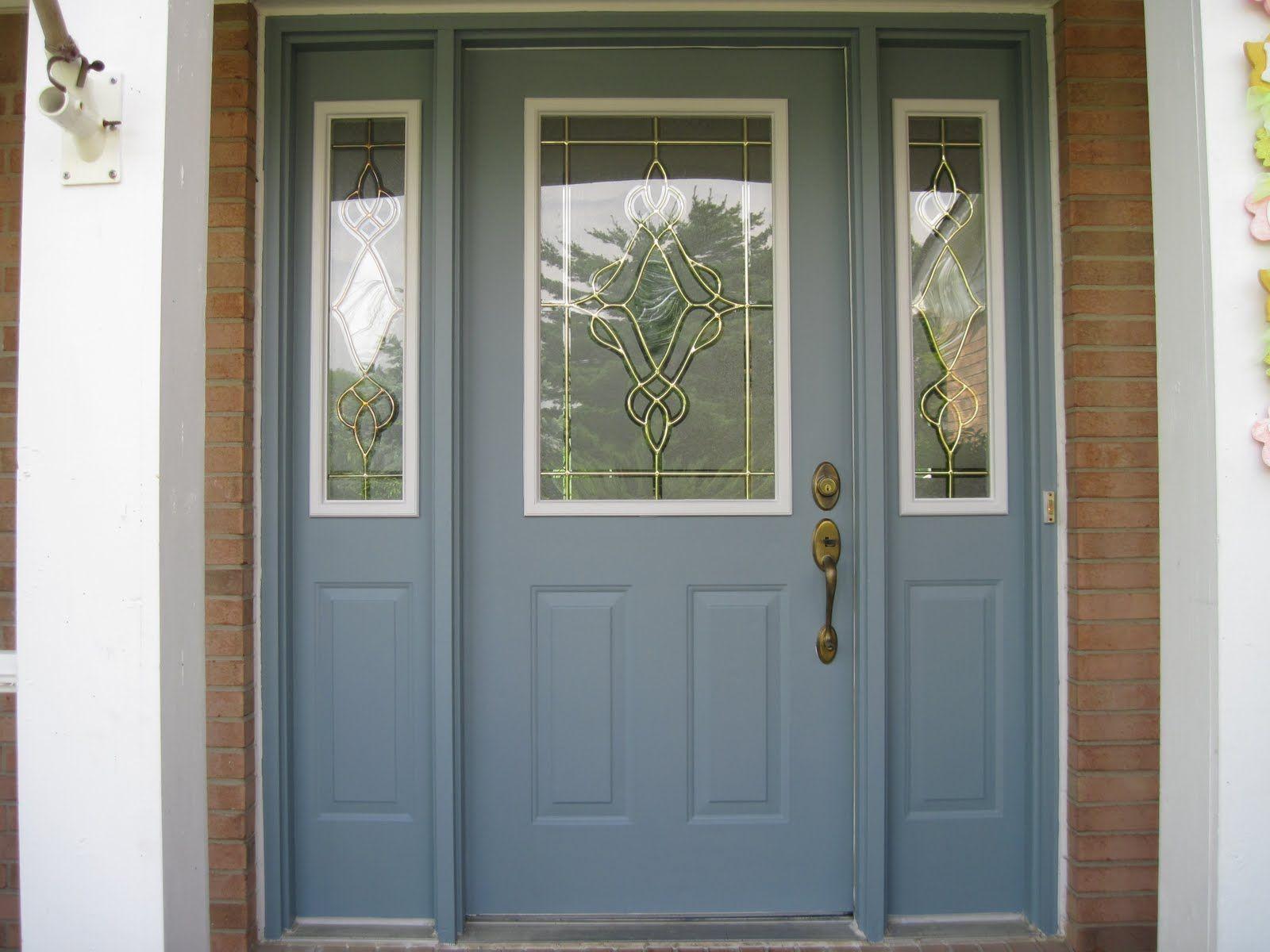 Van courtland blue by benjamin moore paint bm for Front door paint colours