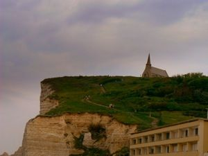 Falaise d'Aval - I was 7 months pregnant when I walked up ...