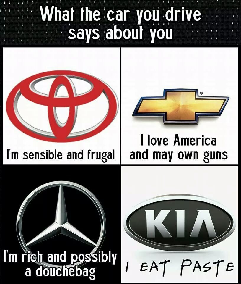 What The Car You Drive Says About You Kia I Eat Paste Gearhead