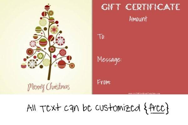 Christmas Gift Certificate Templates Christmas Gift Certificates - christmas gift certificates free