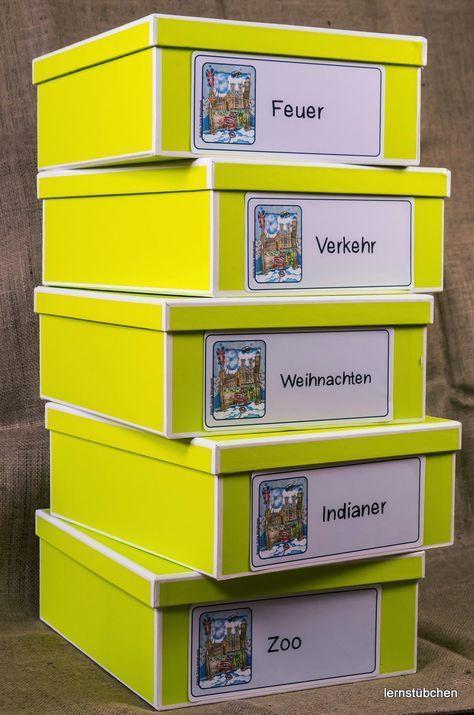 Kisten Beschriften Vorschulideen Kisten Erste Klasse Unterricht
