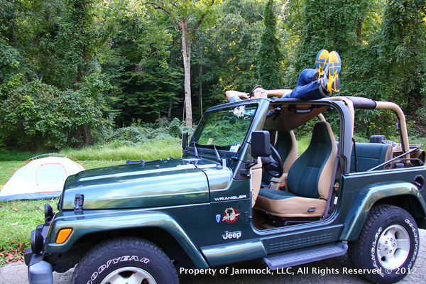 jammock it 39 s a hammock for your jeep check out this unique jeep accessory and other great. Black Bedroom Furniture Sets. Home Design Ideas