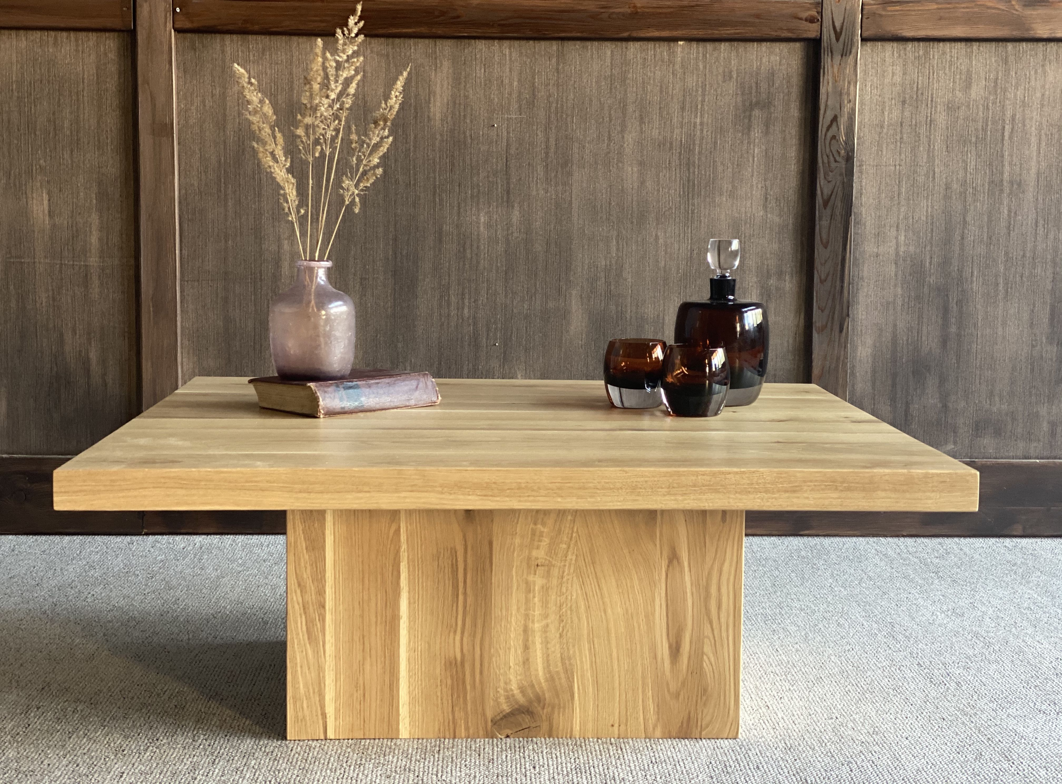 Square Coffee Table Rustic Style Coffee Table Rustic Oak Coffee Table Coffee Table Square Living room table handmade