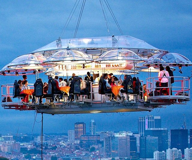 Dinner In The Sky Dinner In The Sky Cool Places To Visit Travel Around The World