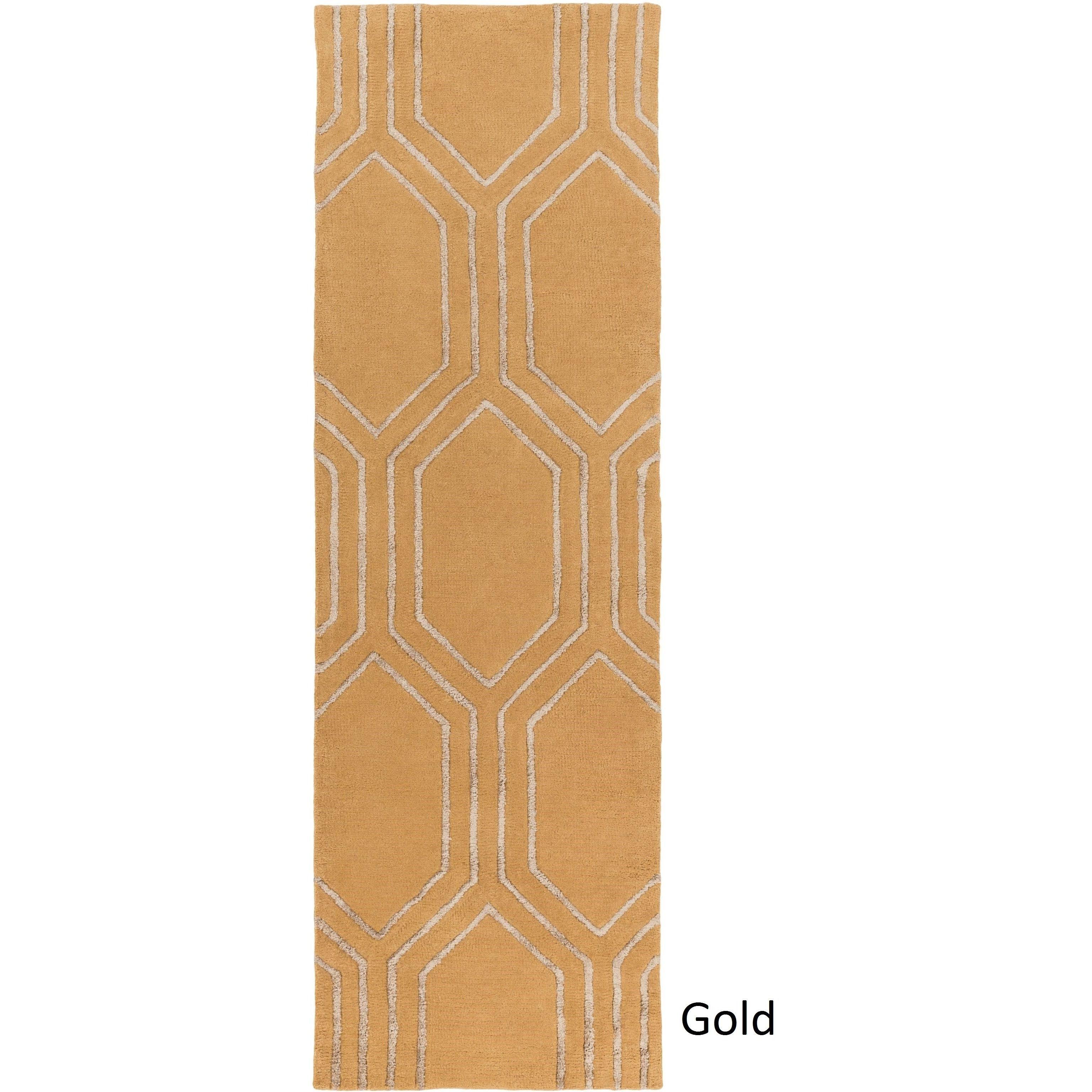 Surya Hand-Tufted Herman Geometric Indoor Rug (2'6 x 8') (