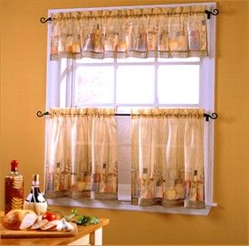 Charming Your Home With Curtains | Finding Tuscan Kitchen Curtains