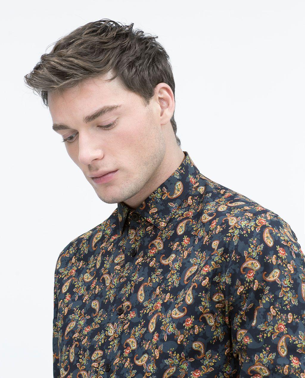 01fd17833 ZARA - HOMBRE - Camisa estampada | Shirts Design en 2019 | Camisas ...