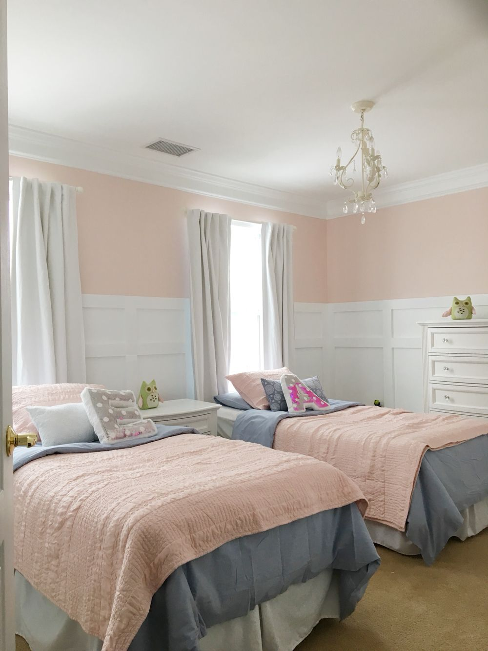 Twins Room Re Do Peachy Blush Pink On The Walls Is Behr Stolen