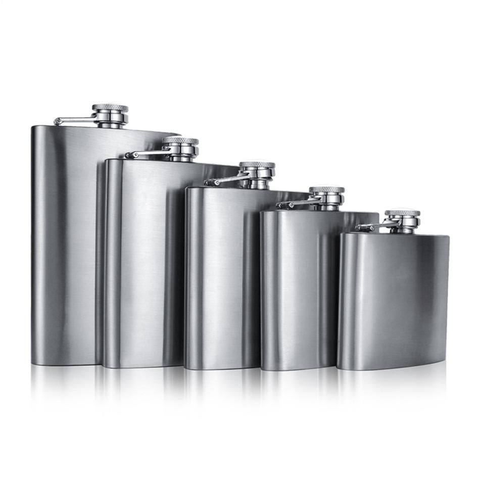 Stainless Steel 7oz Hip Flask Wine Bottle Mens Gift Portable Outdoor Travel Tool