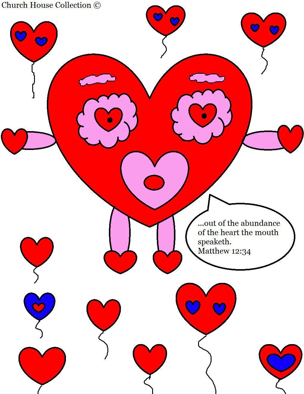 church house collection blog valentines day heart coloring page for sunday school matthew 12