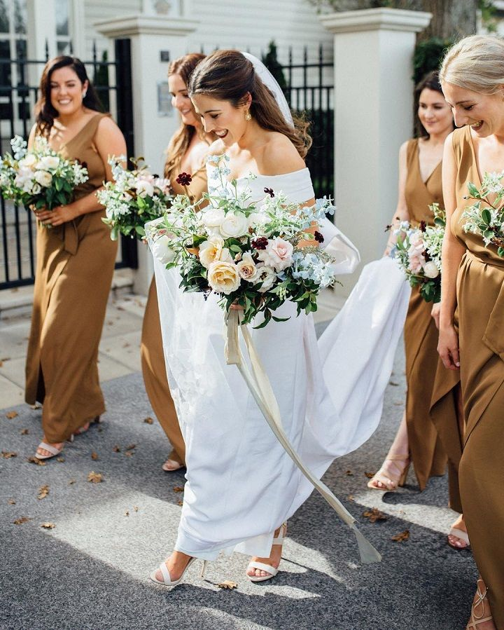 Mocha bridesmaid dresses | Coffee shades bridesmaid dress #bridesmaid #brown #summerwedding