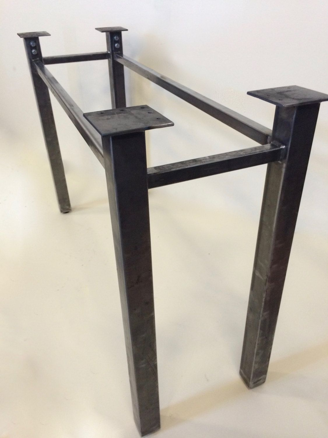 Set of 2 legs steel sturdy legs metal table legs for Steel dining table design