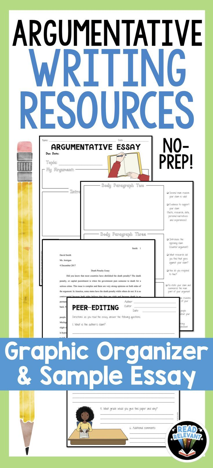 Argumentative Essay Writing Resources  Graphic Organizer And