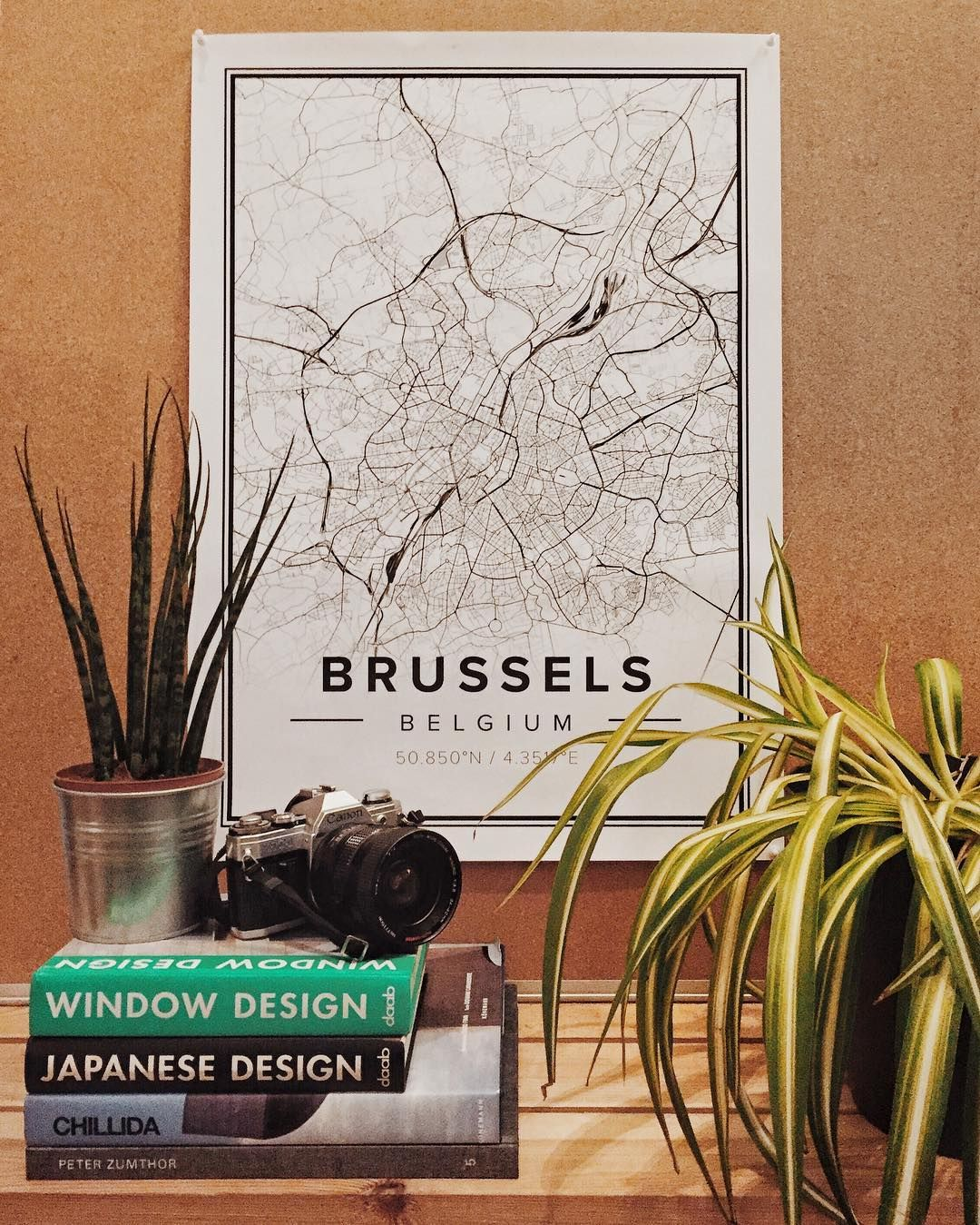 Poster design 50x70 - Brussels Customizable Map Poster