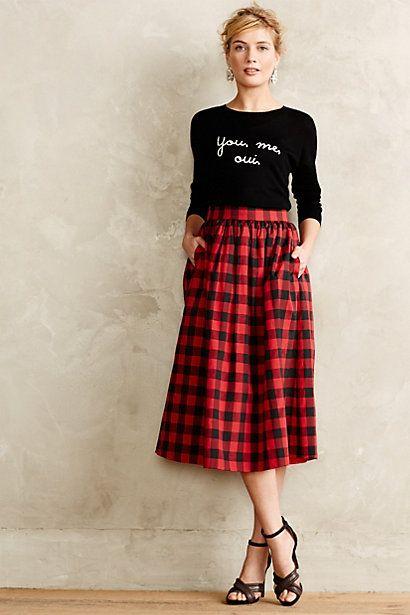 6c8008592c Buffalo Plaid Midi Skirt   Expanding the Closet   Fashion, Style ...