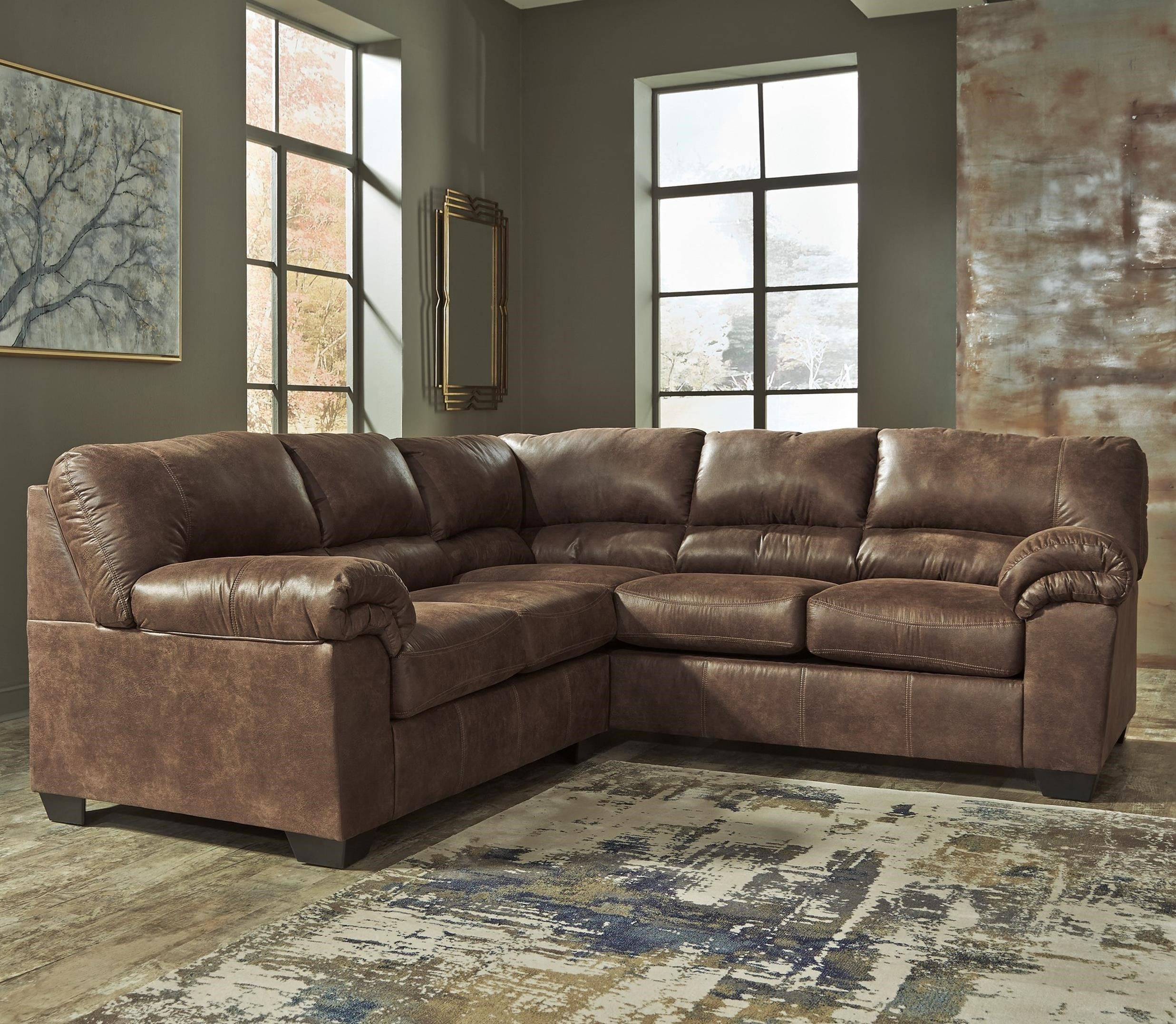 Bladen 2-Piece Faux Leather Sectional by Signature Design by Ashley at Wilson's Furniture | Fabric sectional sofas, Faux leather sectional, Furniture