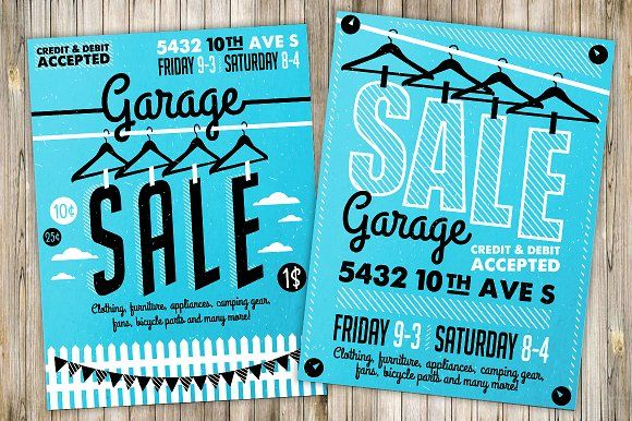 Garage Sale Flyer Poster(3) by Moloko88 on @creativemarket