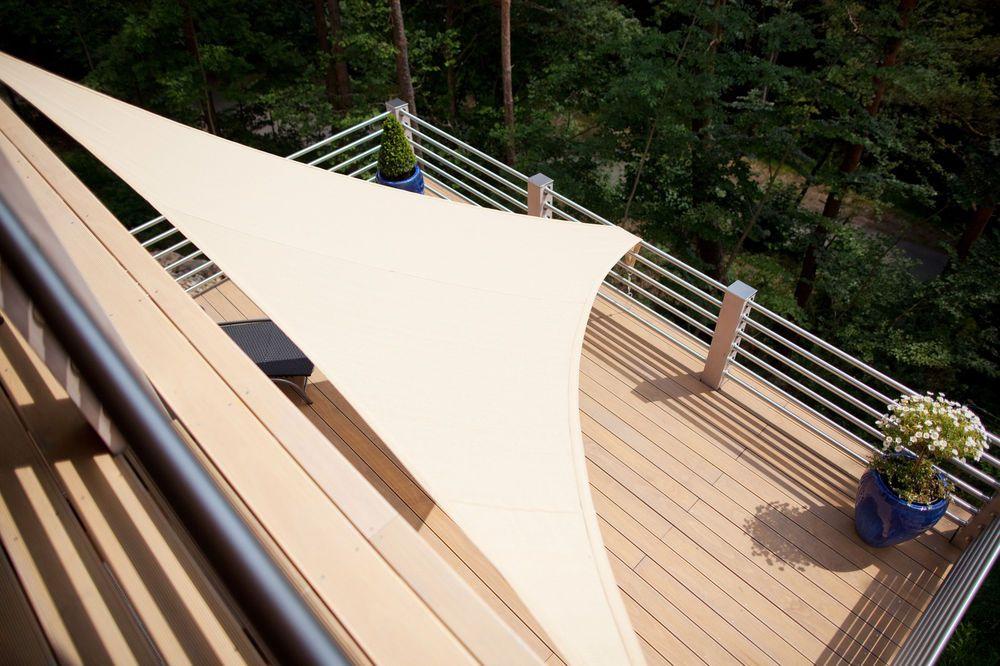 Beautiful Details zu Sonnensegel m x m x m Dreieck UV Schutz Sonnenschutz Windschutz Sonnendach