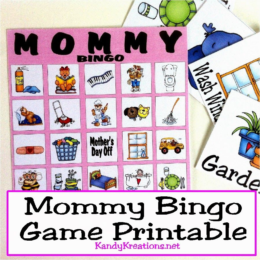 mothers day mommy bingo game printable bingo mothers and kid. Black Bedroom Furniture Sets. Home Design Ideas