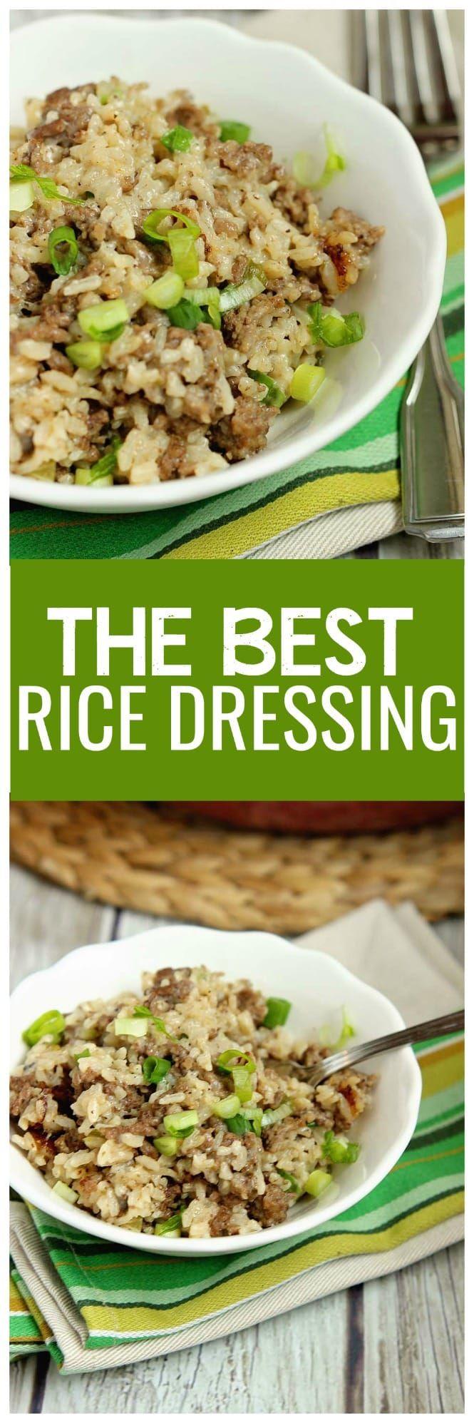 Best Rice Dressing Recipe Rice stuffing, Rice dressing