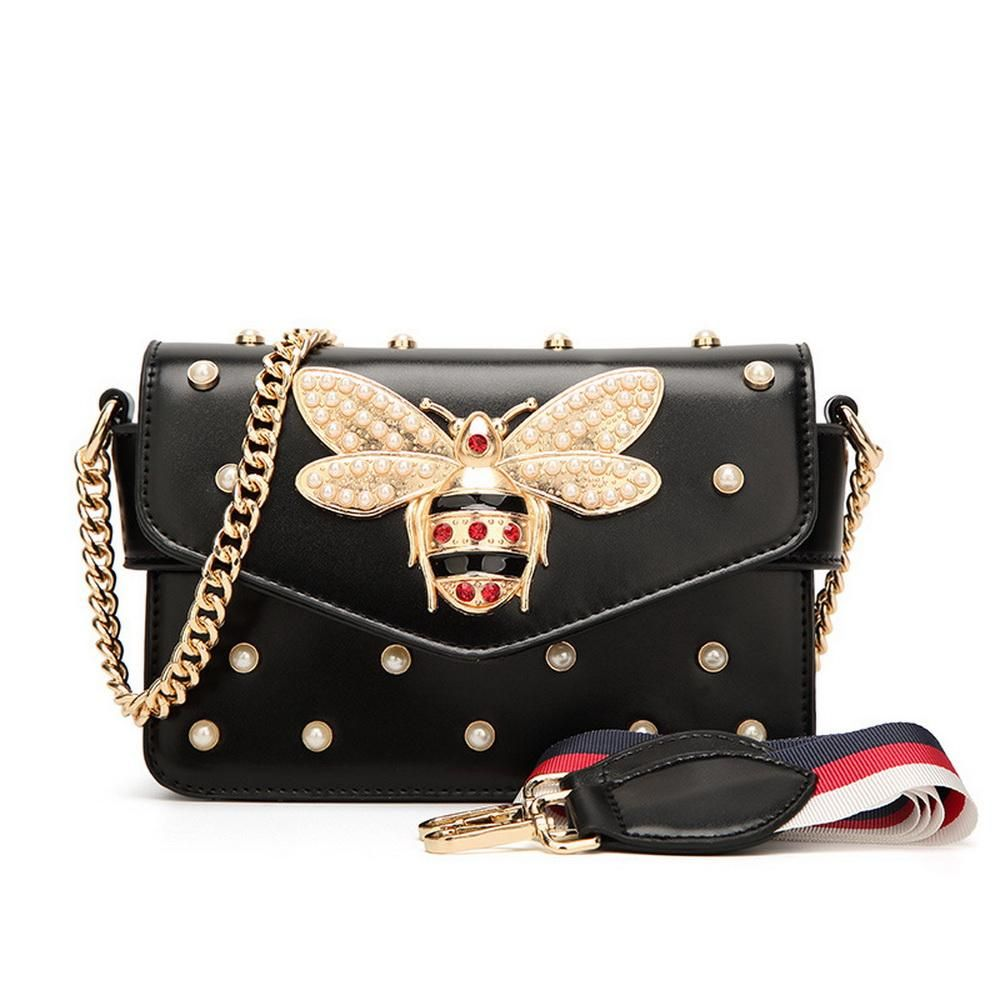 A Cute Small Faux Leather Chain Bag