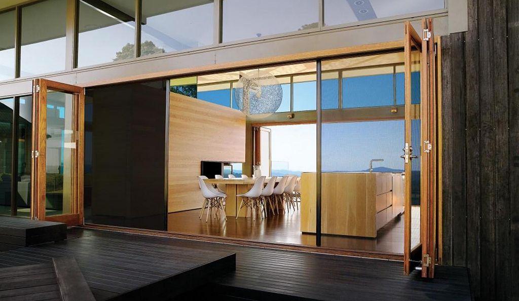 Gallery Of Screen And Shade System S4 1 In 2020 Folding Doors Exterior Folding Doors Bifold Doors