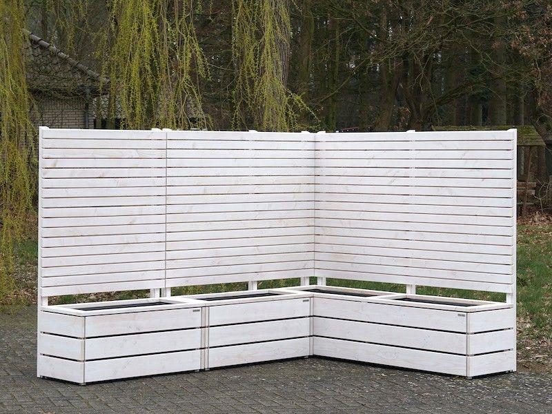 Pflanzkasten Holz Ecke Mit Sichtschutz Pflanzkasten Pflanzkasten Holz Sichtschutz