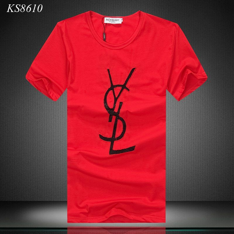 241cc70dea1 Yves Saint Laurent YSL Mens Short Tshirts, modal tees, 100% Cotton shirts,  Fashion t-shirts, Famous brand shirts