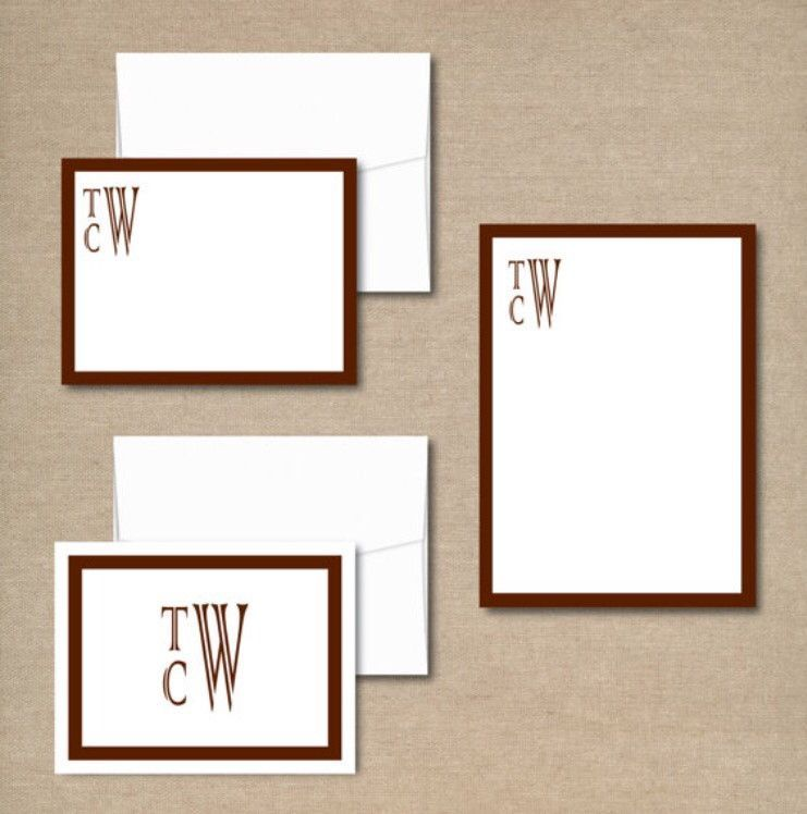 Complete Personalized Stationery Set - Note Pad and Note Cards