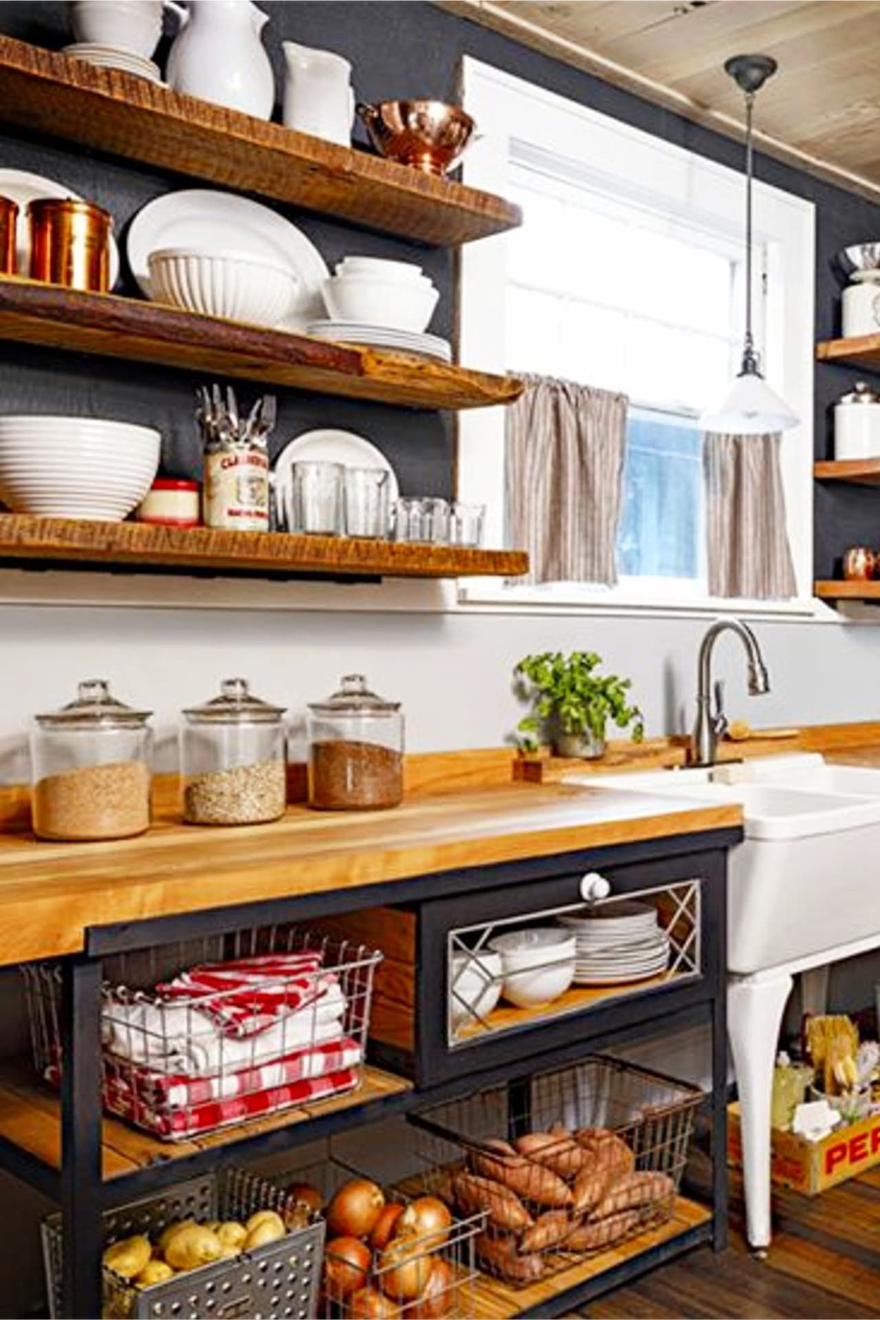Declutter Your Kitchen Diy Shelves To Organize A Country