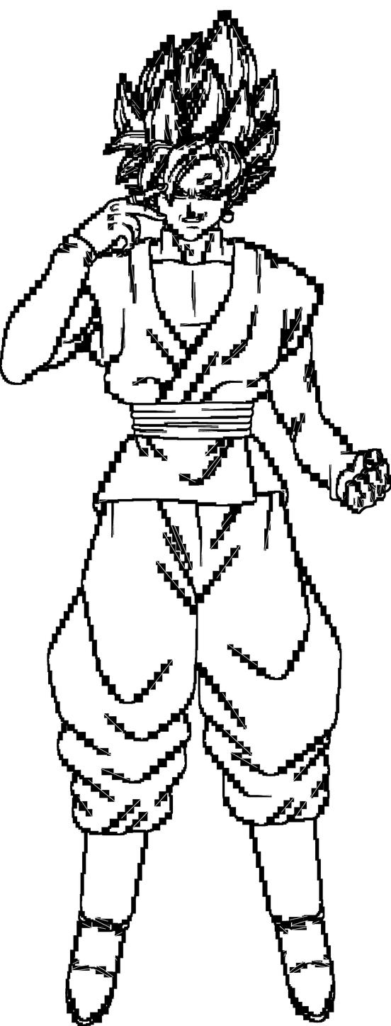Super Saiyan Rose Goku Black Lineart By Brusselthesaiyan On Deviantart Goku Black Dragon Ball Art Super Saiyan Rose