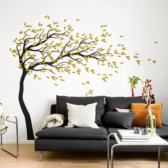 Stickers Voor Op Muur.White Tree Wall Decal Nursery Wall Decoration Tree Wall Sticker