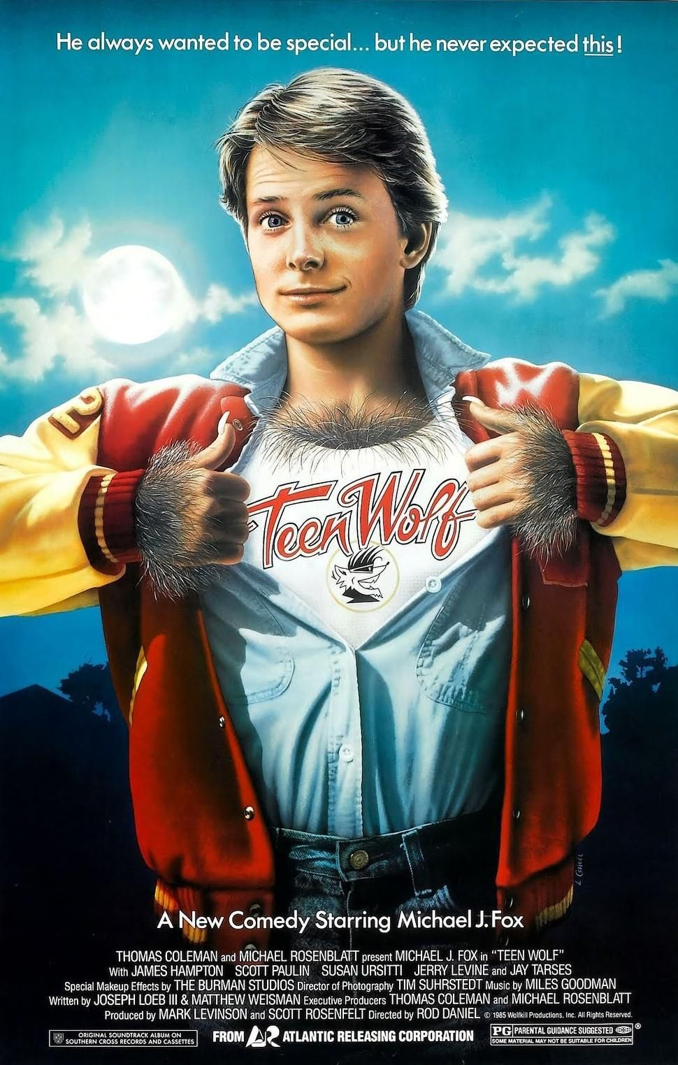 Teen Wolf.  Michael J. Fox.  Quadruple doubles, Wolfmobile surfing, and a girl named Boof.