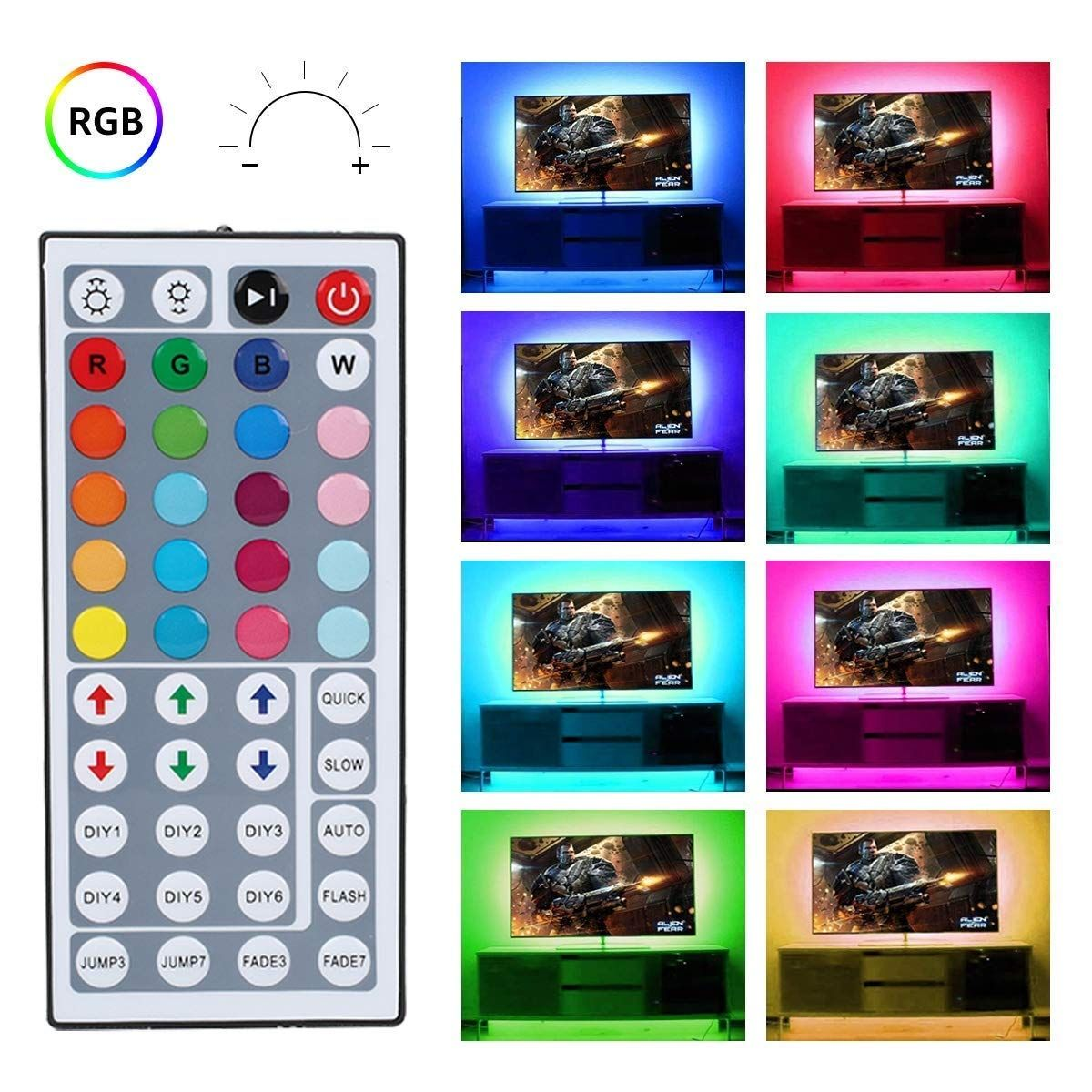 Commercial Electric 18 Ft Led Connectible Indoor Outdoor Color