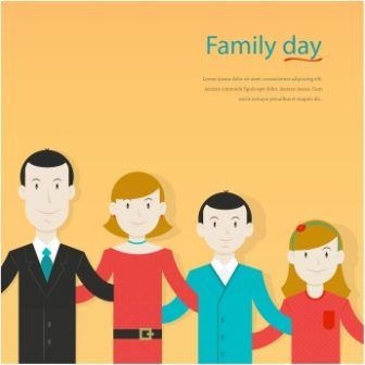Free Vector Happy Family Day Background Cgvector