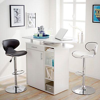 Meuble snack - bar blanc L117.50cm   Deco maison   Pinterest