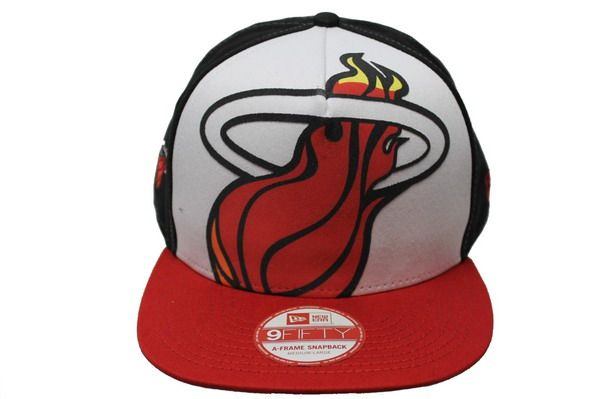 new product 8e7b9 66214 ... discount code for nba miami heat 9fifty a frame snapback hats and caps  by newera affb9