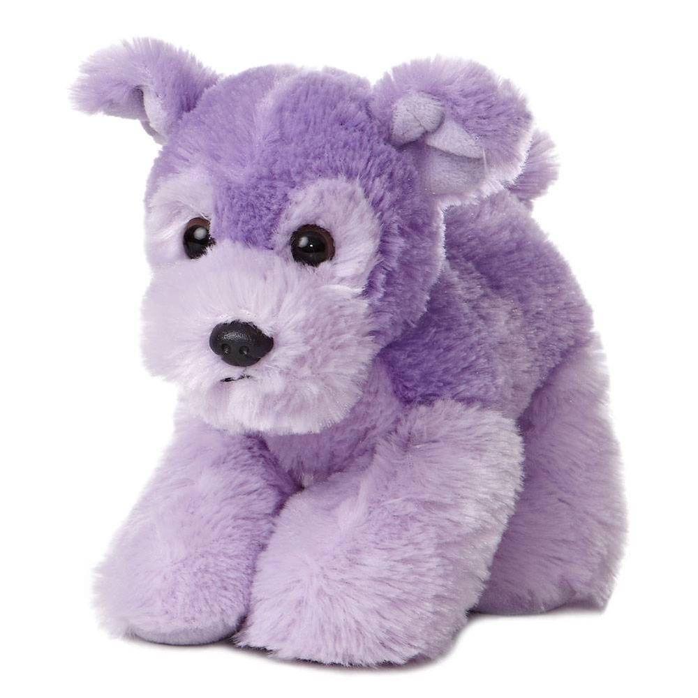 8 Aurora Plush Purple Lavender Puppy Dog Mini Flopsie Stuffed