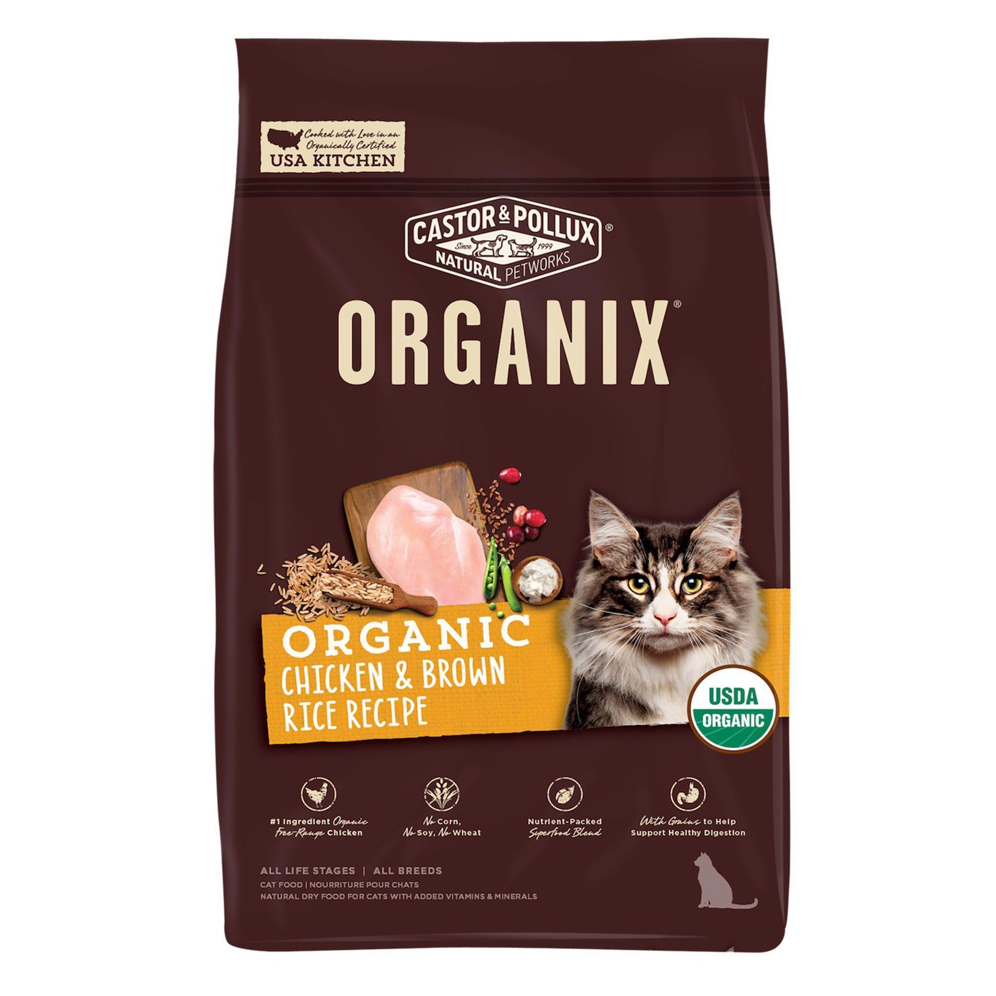 Castor Pollux Organix Chicken Brown Rice Cat Food Organic