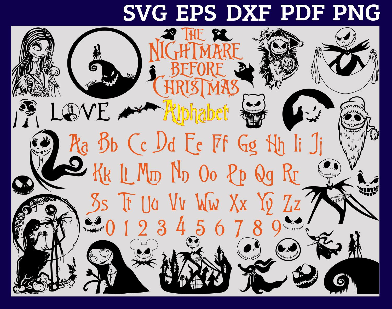 Nightmare Before Christmas Alphabet Svg Jack Skellington