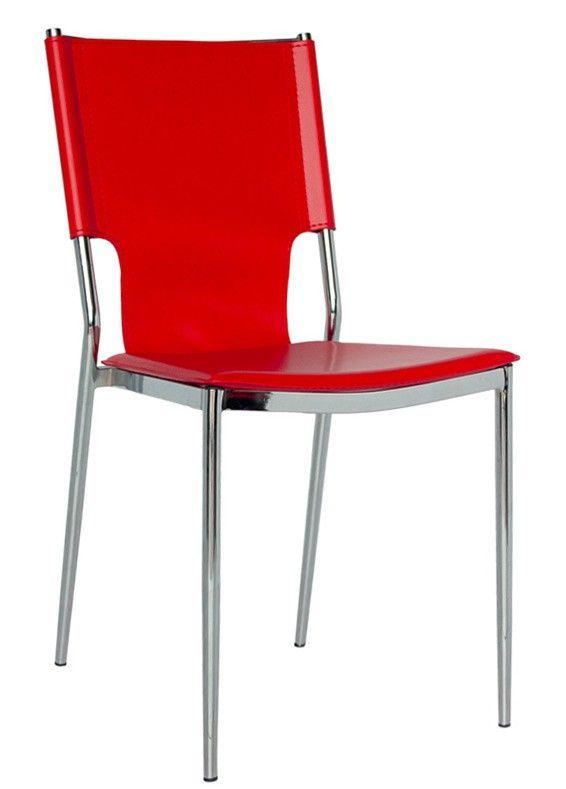 Sedie Moderne Pelle E Acciaio.Sedia Moderna In Acciaio Con Sedile Eco Pelle Art 837