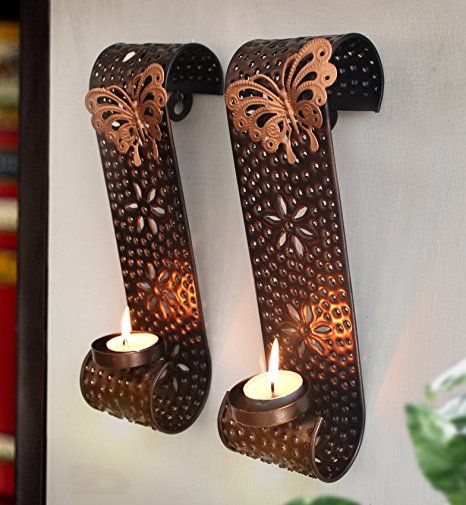 Buy tiedribbons wall sconces with tealight candle for diwali buy tiedribbons wall sconces with tealight candle for diwali decoration wall sconce tea light mozeypictures Image collections