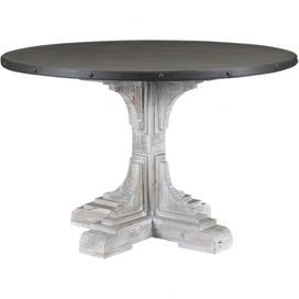 Serrano Dining Table In White Water Wash With Images Dining Table Dining Table In Kitchen Metal Dining Table
