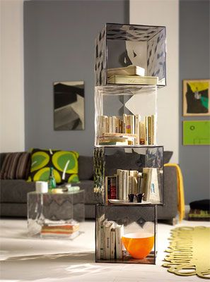 UK: Kartell Storage Optic Container Cube With Door At Contemporary Heaven Home Design Ideas