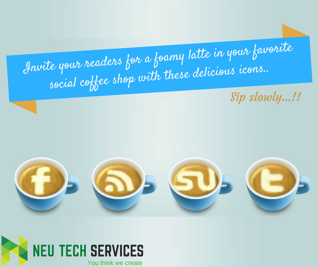 Invite your readers for a foamy latte in your favorite