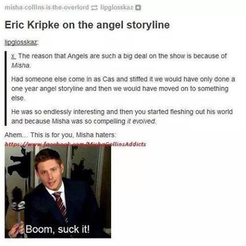 Misha changed the course of Supernatural